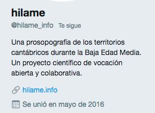 HILAME en Twitter