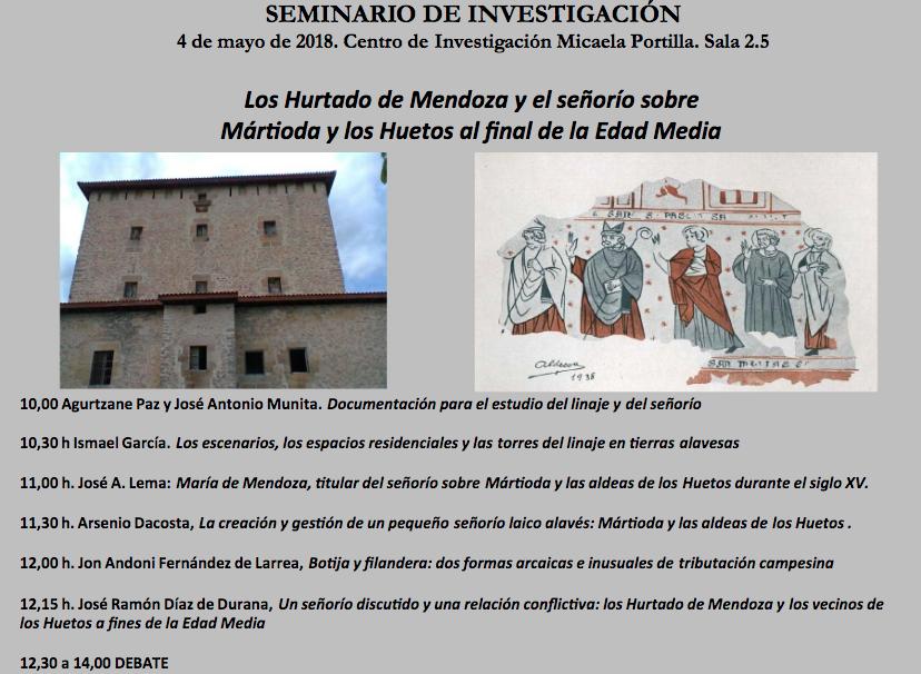 Programa Seminario Los Hurtado de Mendoza