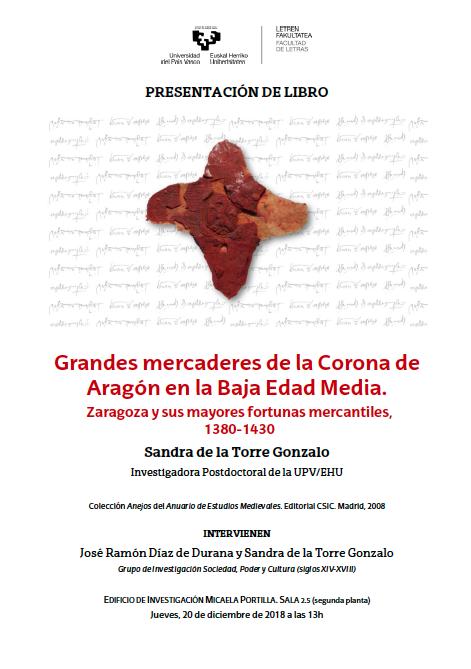 Grandes mercaderes en la Corona de Aragón. Cartel
